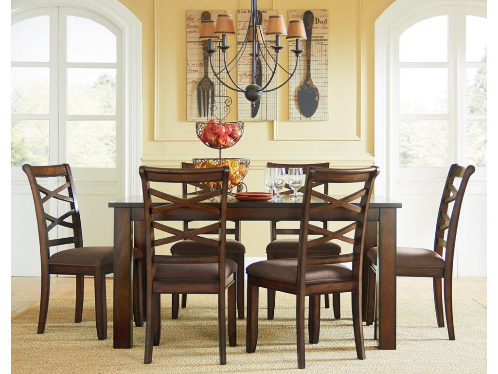 Standard Furniture Redondo Casual Transitional 7 Piece Dining Set