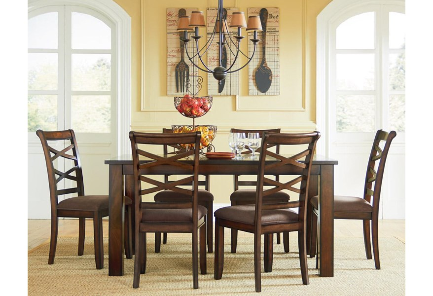 Redondo Casual Transitional 7-Piece Dining Set by Standard Furniture at  Dunk & Bright Furniture