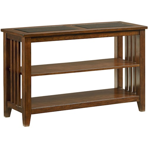 Standard Furniture Rio Dark Console Table With Shelves Wayside - Standard console table height