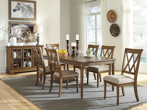 Standard furniture rossmore formal dining room group