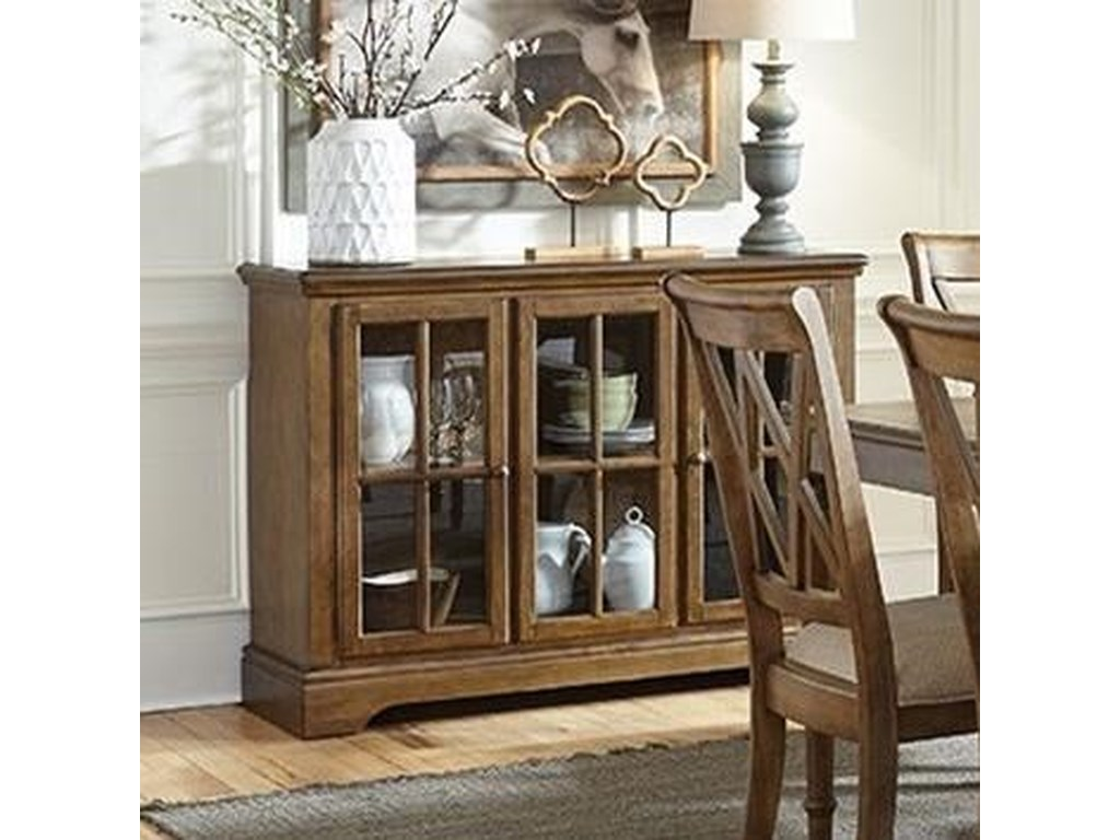 Vfm Signature Rossmore Dining Sideboard With Glass Door Panels