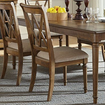 Standard Furniture Rossmore Dining Side Chair With X Back Design