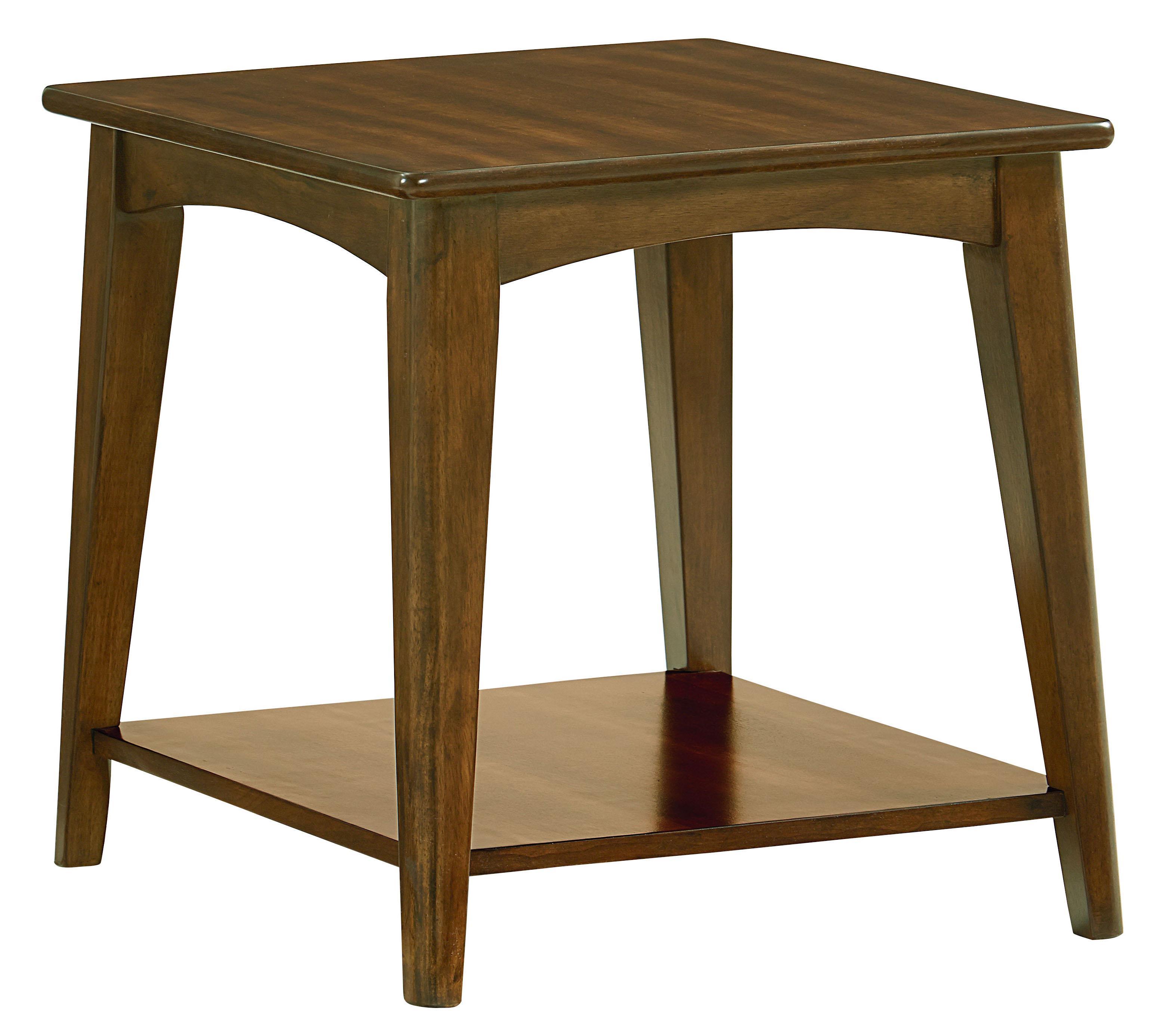Standard Furniture Roxbury Mid Century Modern End Table With Splayed Legs