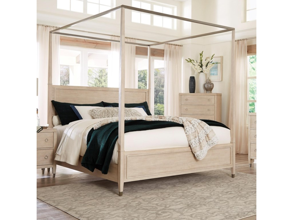 Standard Furniture Sausalito Transitional Queen Canopy Bed