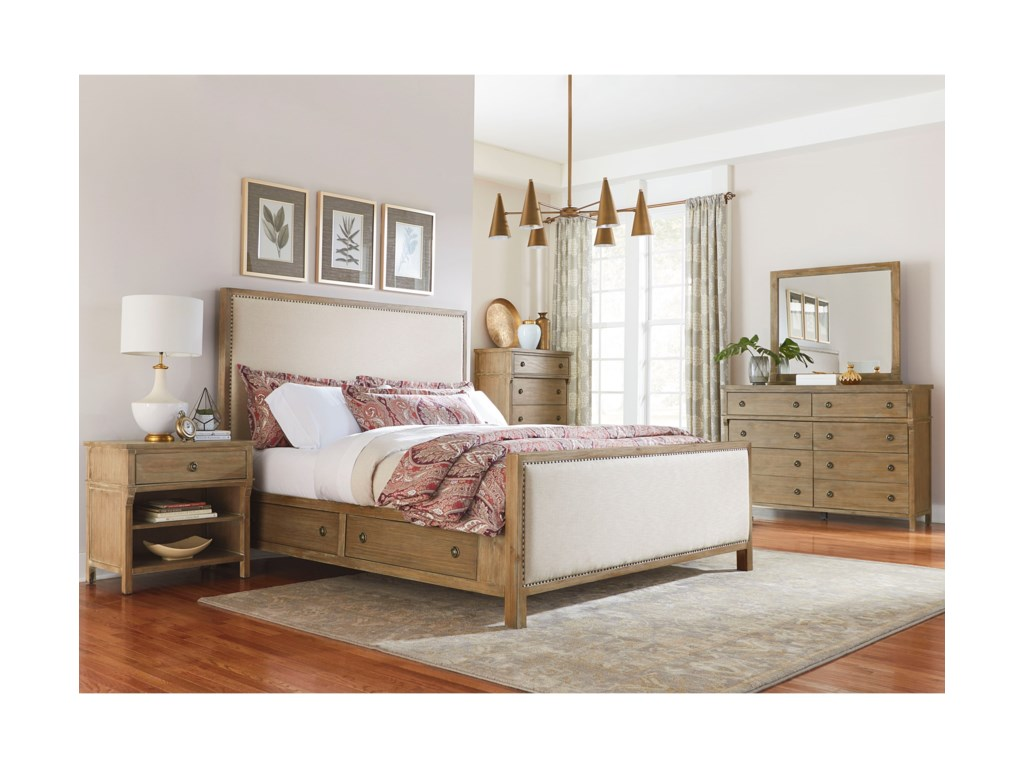 Standard Furniture Savannah CourtQueen Panel Storage Bed