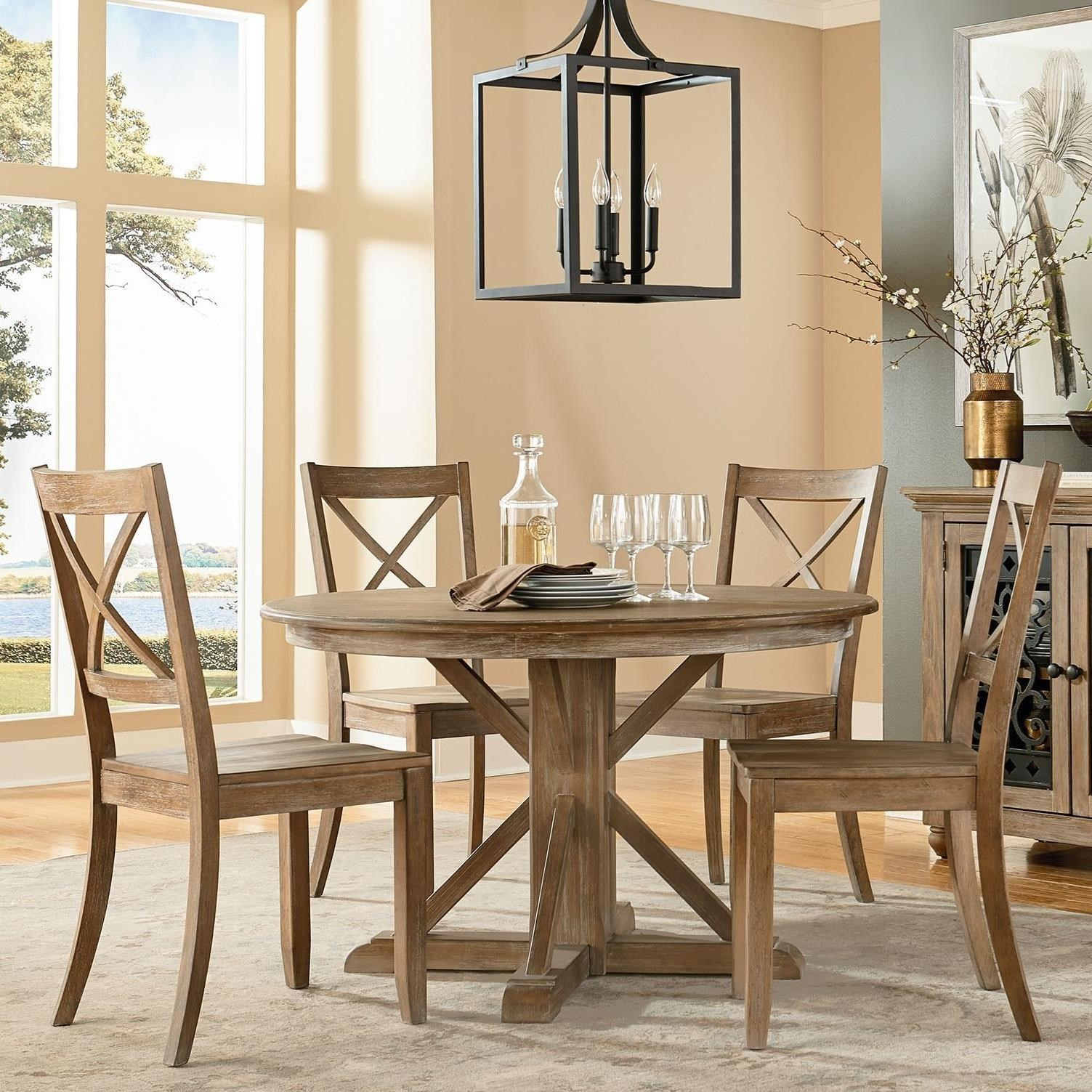 Standard Furniture Savannah Court Traditional Round Table And Chair Set