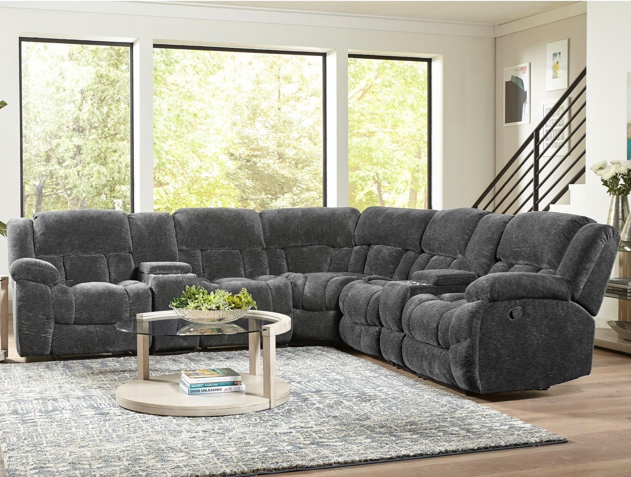 Incroyable Standard Furniture Seymore Casual Seven Piece Power Reclining Sectional Sofa  With Four Cupholders