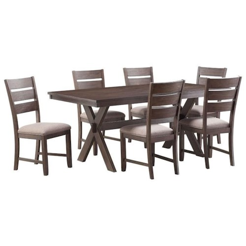Standard Furniture Sherwood Rustic Trestle Table and Chair Set ...