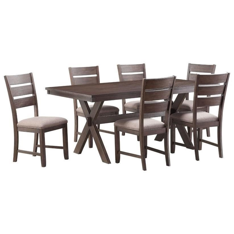 Standard Furniture Sherwood Rustic Trestle Table And Chair Set