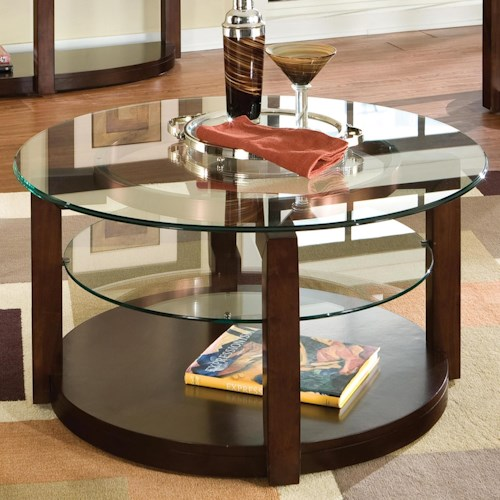 Standard Round Coffee Table Size: Standard Furniture Coronado Round Cocktail Table With