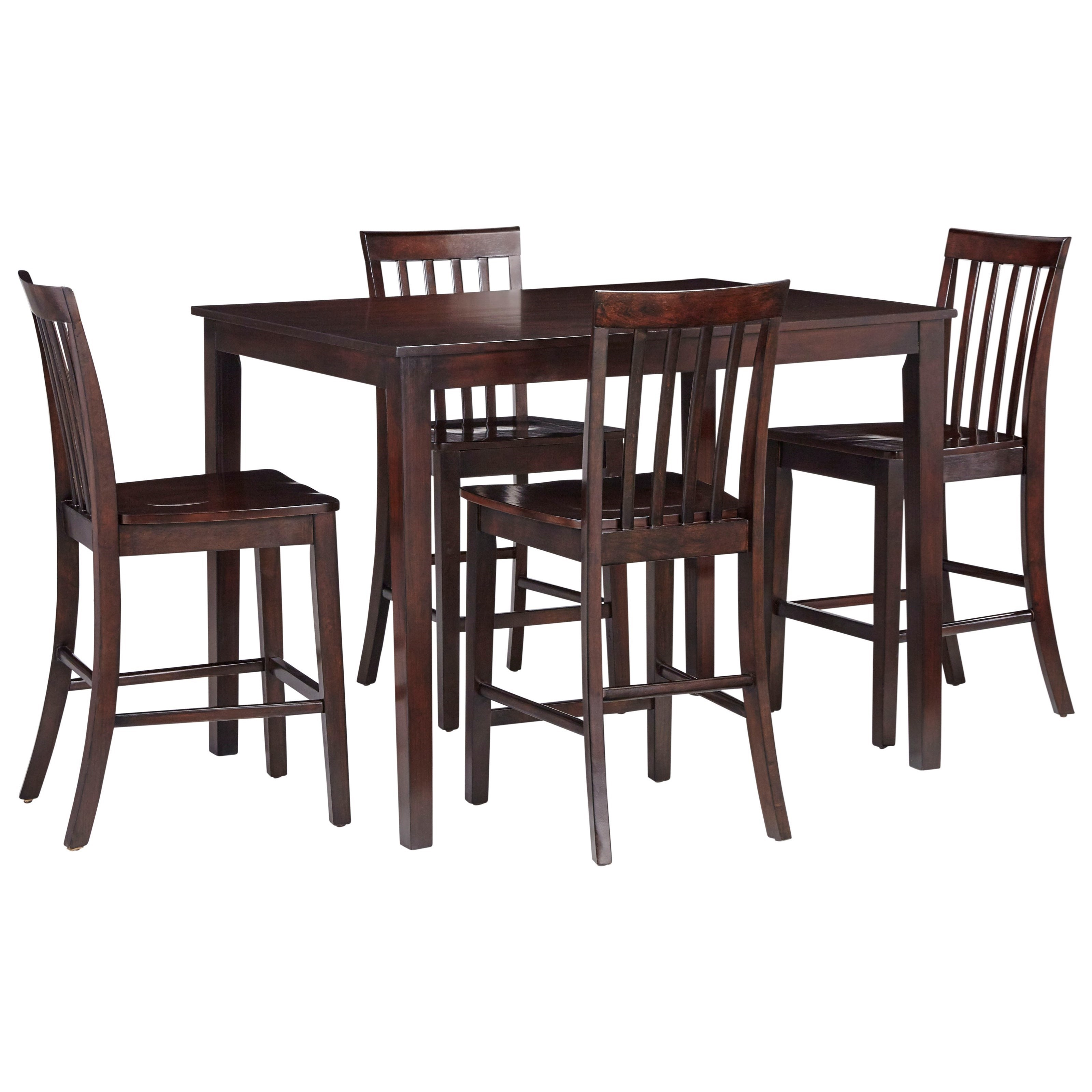Standard Furniture StantonCounter Height Table U0026 Four Chairs ...