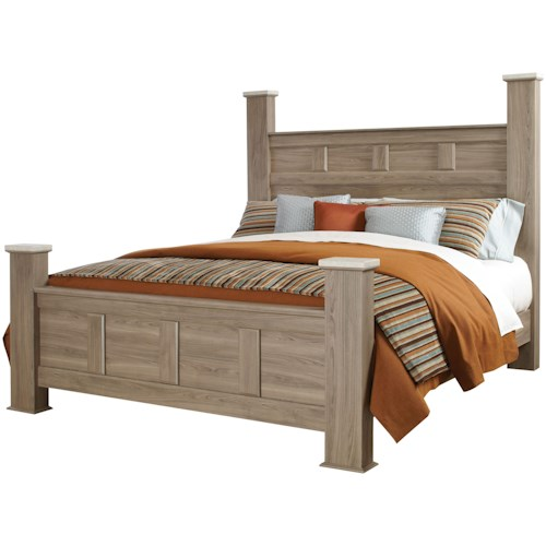 Standard Furniture Stonehill Casual Queen Poster Bed