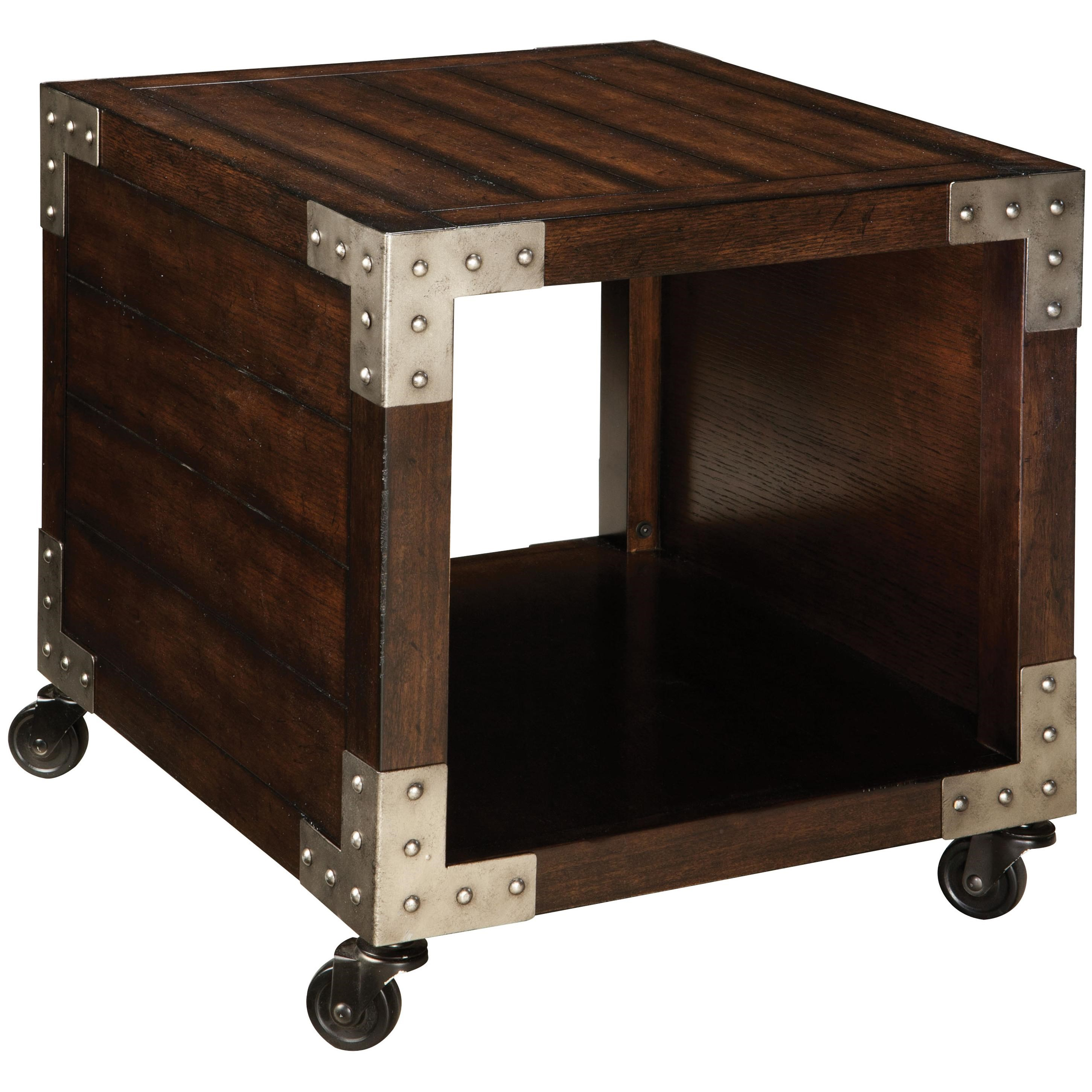 Standard Furniture Sullivan End Table With 1 Compartment And Metal Accents