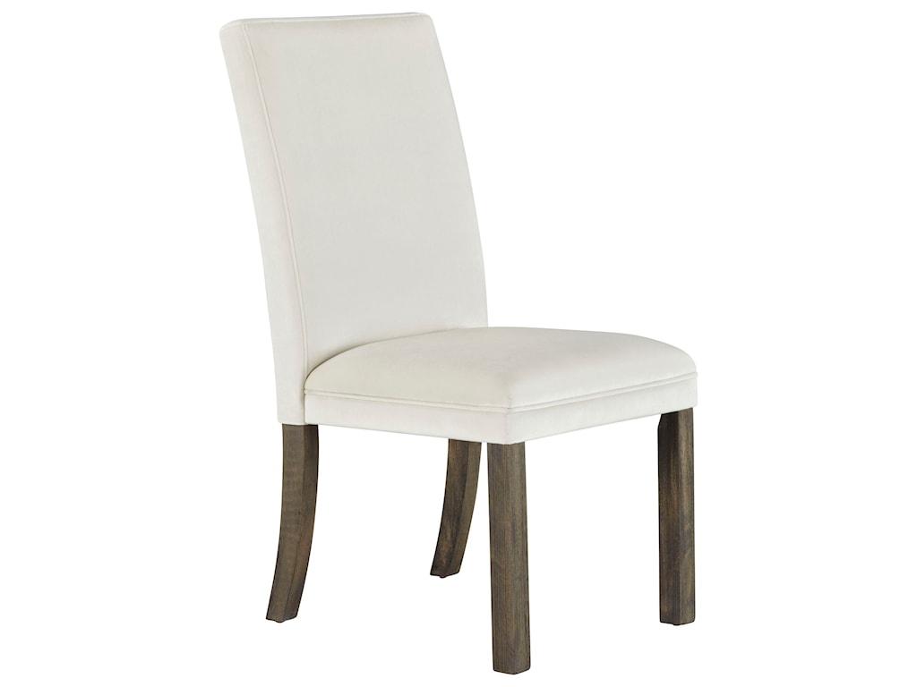 Standard Furniture TrentonChair,Side Uph-White Fab 2/Ctn