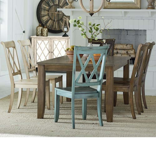 Standard Furniture Vintage Table and 6 Chair Set - Wayside ...
