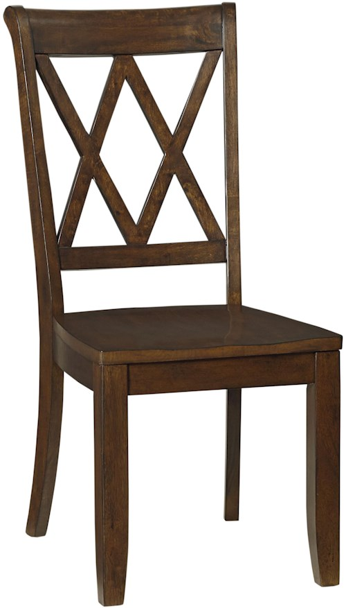 Standard Furniture Vintage Dining Side Chair with X Back