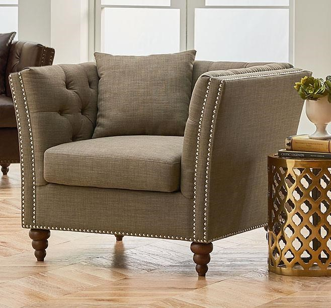Standard Furniture Westerly 4135183 Upholstered Chair with Nailhead ...