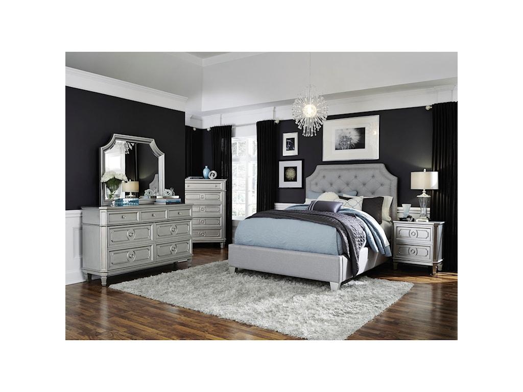 Standard Furniture Windsor SilverQueen Upholstered Bed