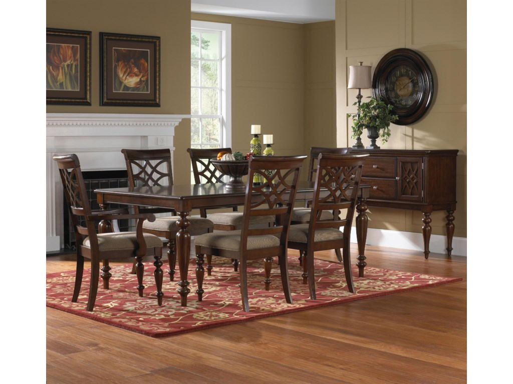 Standard Furniture Woodmont 7 Piece Rectangular Dining Table ...