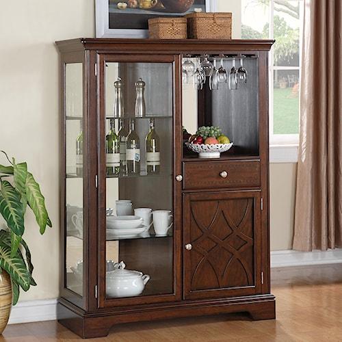Standard furniture woodmont door display curio cabinet