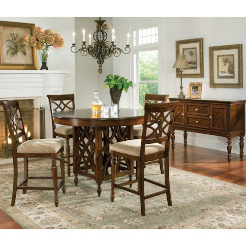Standard furniture woodmont 5 piece counter height table standard furniture woodmont 5 piece counter height table upholstered stools set watchthetrailerfo