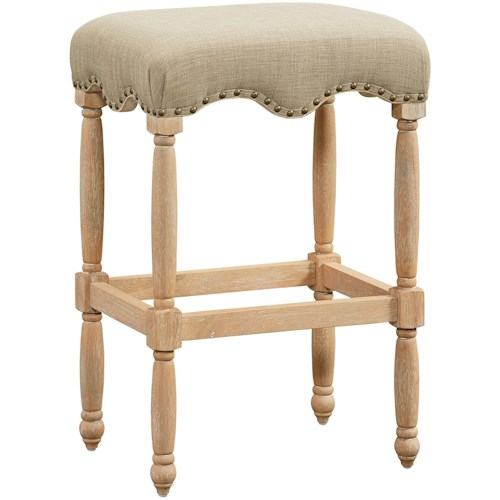 Standard Furniture Yorkshire Traditional Barstool With Nailheads