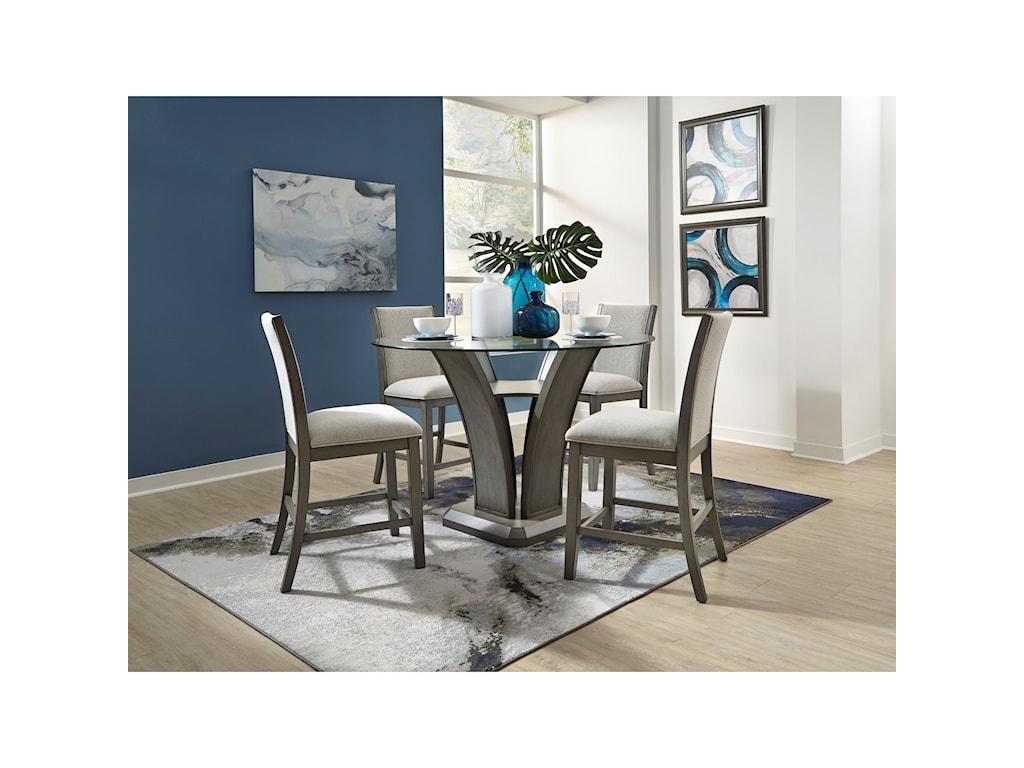 Standard Furniture Zayden Grey5-Piece Counter Height Dining Set
