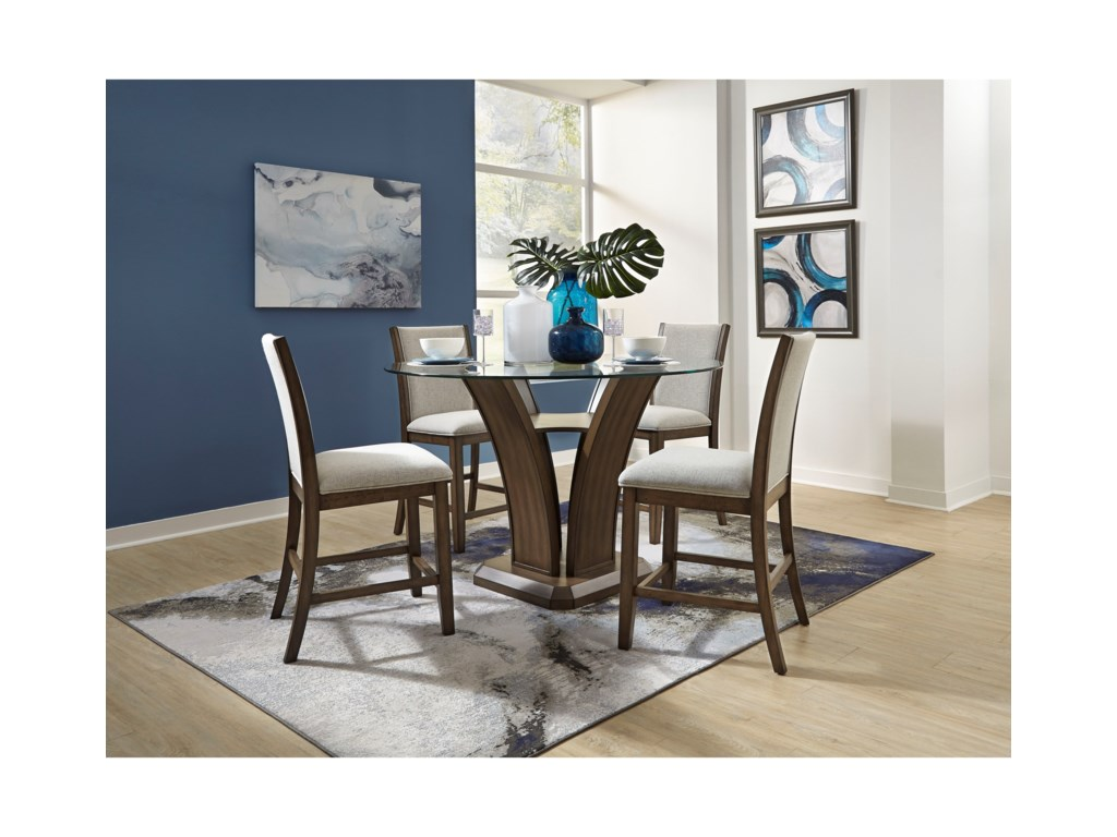 Standard Furniture Zayden Brown5-Piece Counter Height Dining Set