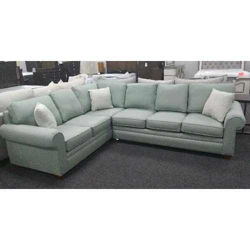 Stanley Chair Company 212 5 Seat Two Piece Sectional