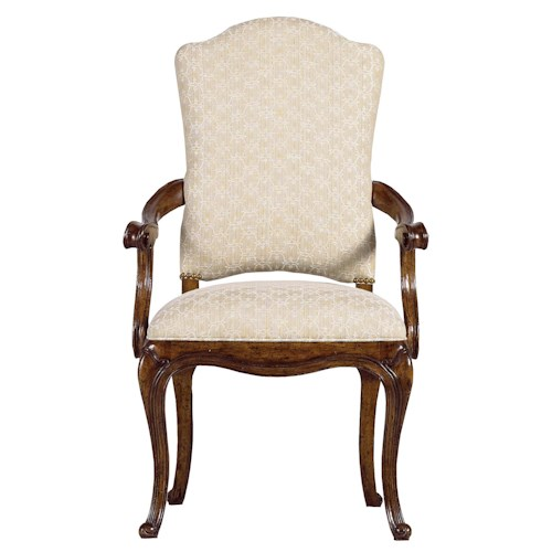 Stanley Furniture Arrondissement Traditional Volute Arm Chair