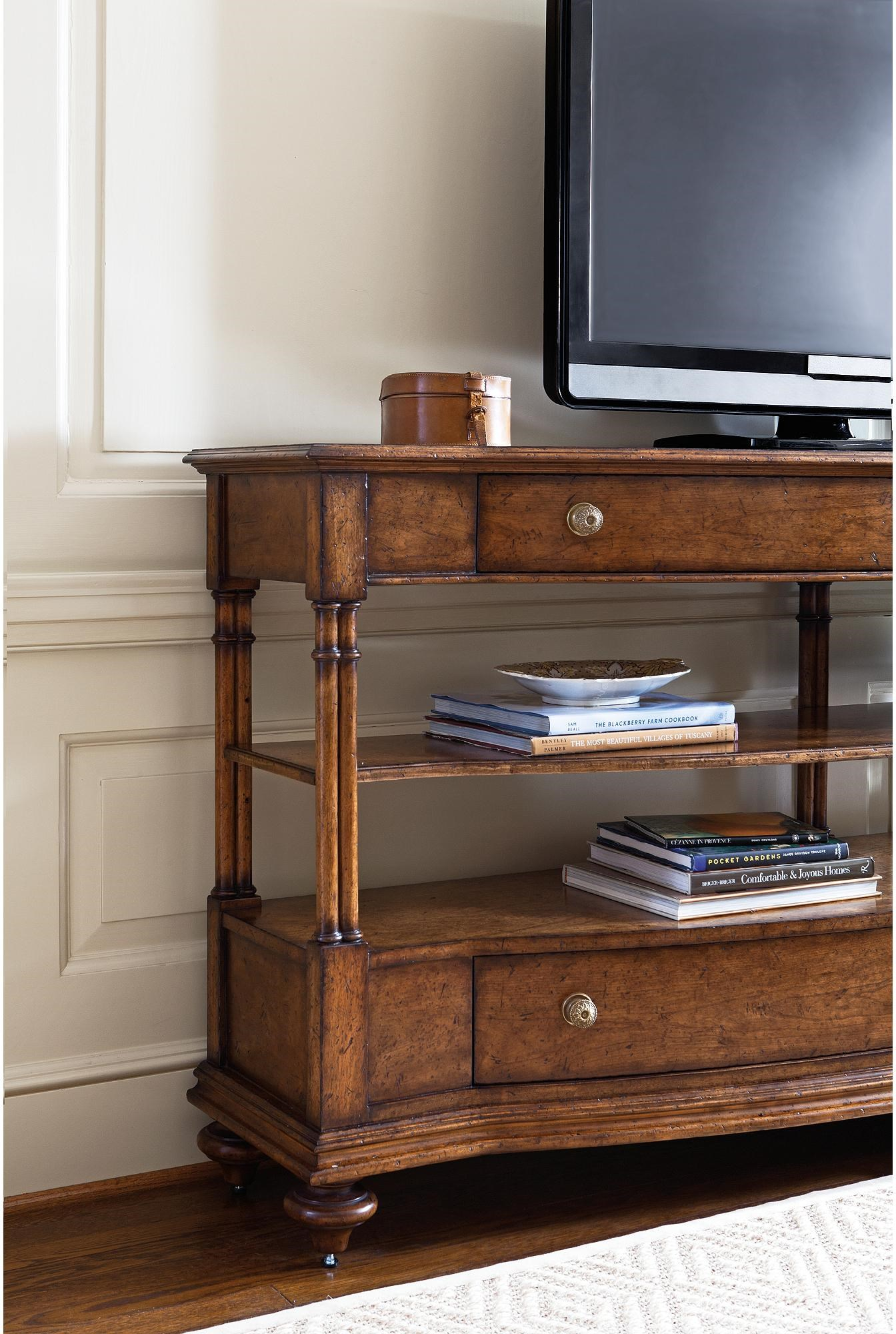 Arrondissement 222 15 30 Rond Media Console With Electrical Outlet By Stanley  Furniture