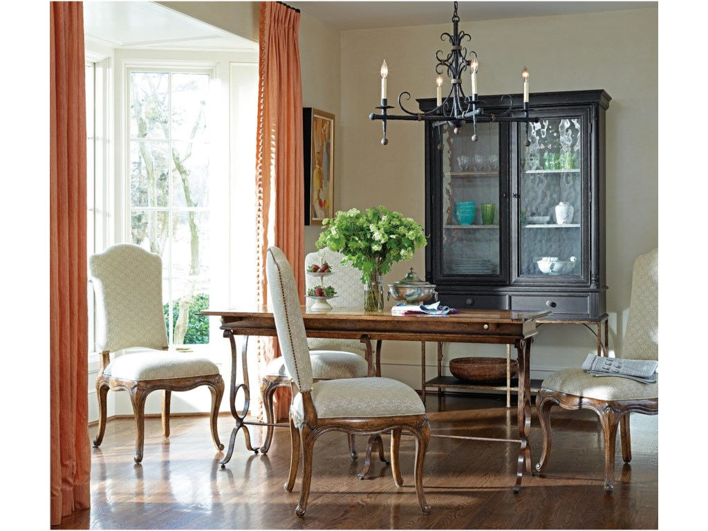 Shown with Vilette Flip Top Console and Volute Side Chairs