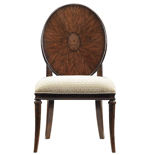 Stanley Furniture Avalon Heights Starburst Wood Back Dining Side Chair