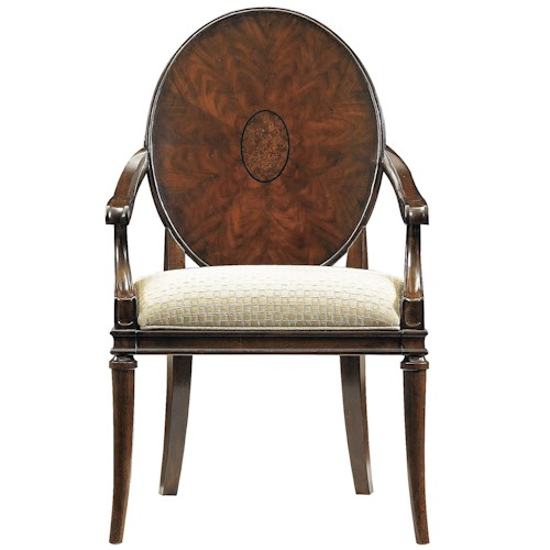 Stanley Furniture Avalon Heights Starburst Wood Back Dining Arm Chair