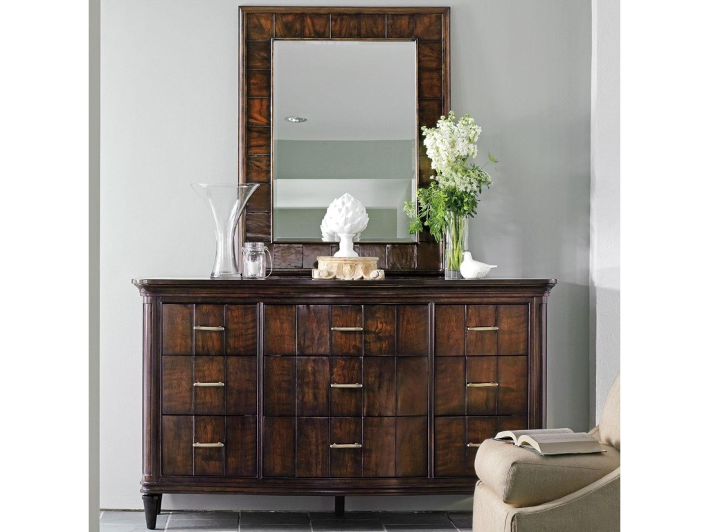 Avalon heights 9 drawer swingtime dresser and mode landscape mirror set by stanley furniture avalon heights collection