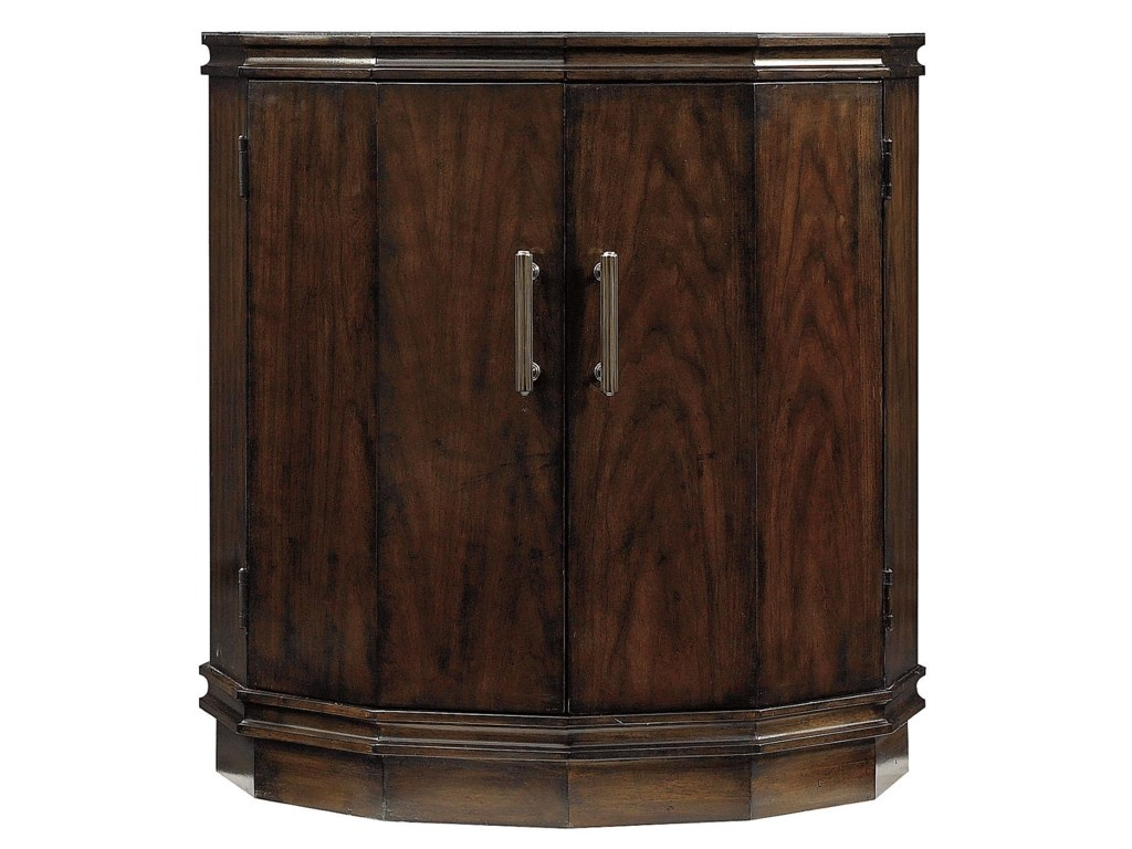 Avalon heights 2 door marlowe drum end table by stanley furniture avalon heights collection