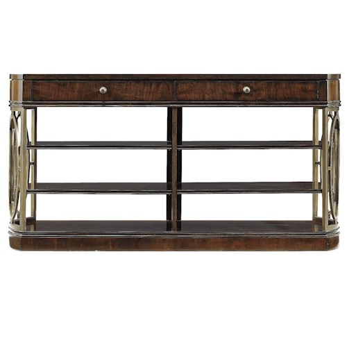 Stanley Furniture Avalon Heights 5 Shelf, 2 Drawer Empire Media Console