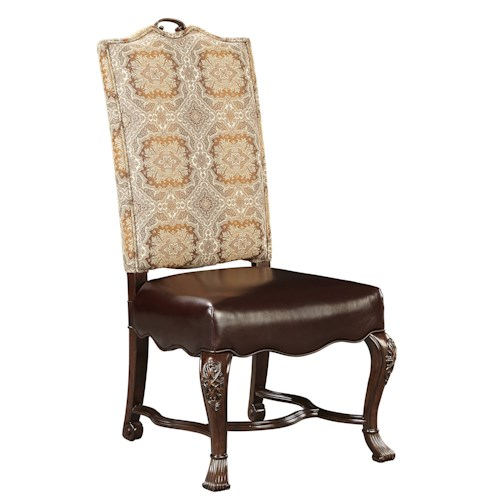Stanley Furniture Casa D'Onore Upholstered Side Chair  with Cabriole Legs