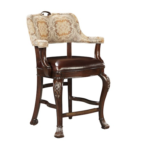 Stanley Furniture Casa D'Onore Counter Stool with Upholstered Arms