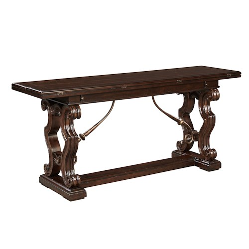 Stanley Furniture Casa D'Onore Flip Top Console with Leaves