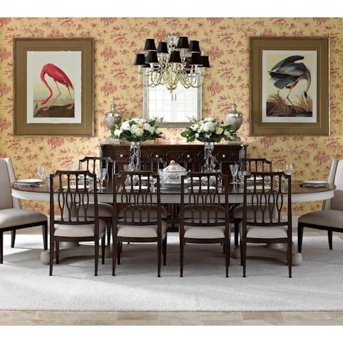 Stanley Furniture Charleston Regency  11 Piece Double Pedestal Table and Chair Set