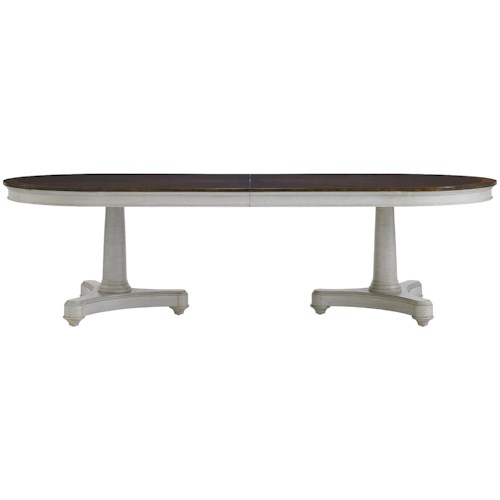 Stanley Furniture Charleston Regency Oyster Point Double Pedestal Dining Table
