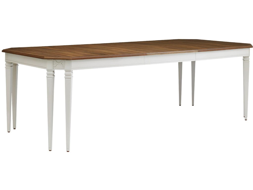 With 24 Inch Leaf Extending Table to 96 Inches