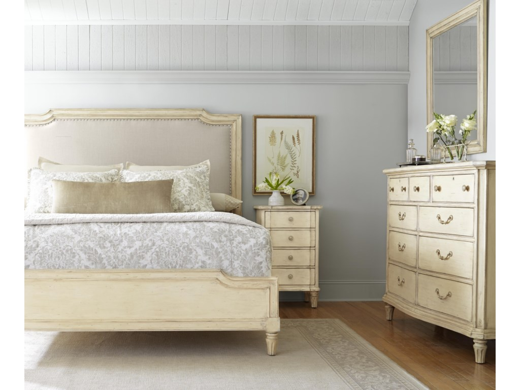 Stanley Furniture European CottageQueen Upholstered Bed