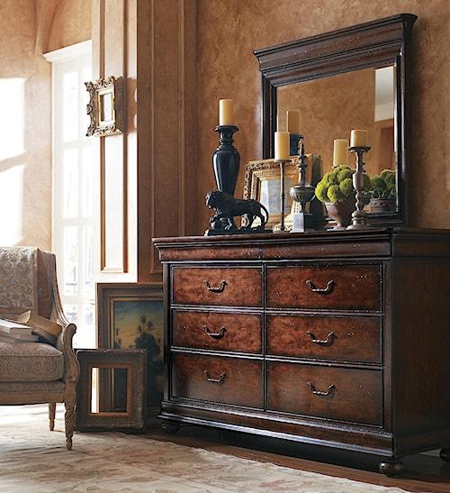 Stanley Furniture The Classic Portfolio - Louis Philippe Six Drawer Dresser & Mirror