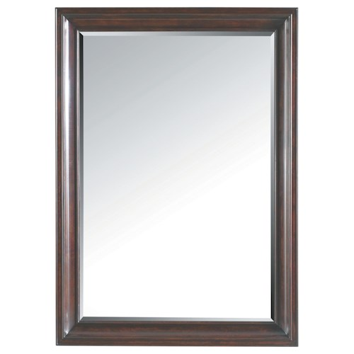 Stanley Furniture Transitional Landscape Mirror with Wood Veneer