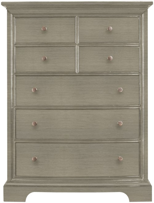 Stanley Furniture Transitional Seven Drawer Chest with Wood Veneer