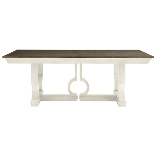 Stanley Furniture Coastal Living Oasis Moonrise Pedestal Dining Table