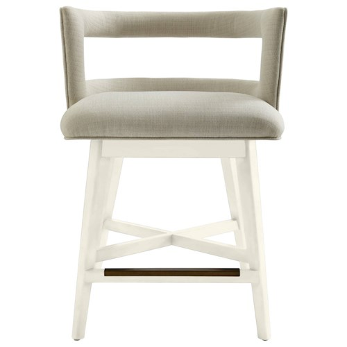 Stanley Furniture Coastal Living Oasis Crestwood Counter Stool with Swivel Seat