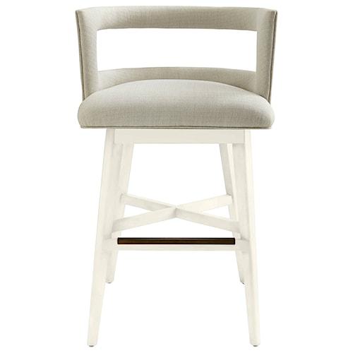 Stanley Furniture Coastal Living Oasis Crestwood Barstool with Swivel Seat